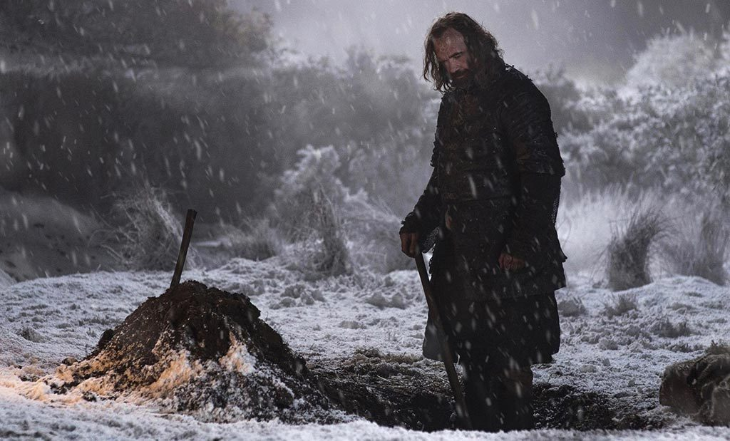 Game of Thrones Hound Digging Grave