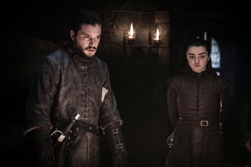 Game of Thrones Jon Snow and Arya Stark