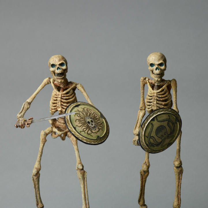 Original Skeleton model armatured skeleton with Medusa shield from Jason and the Argonauts