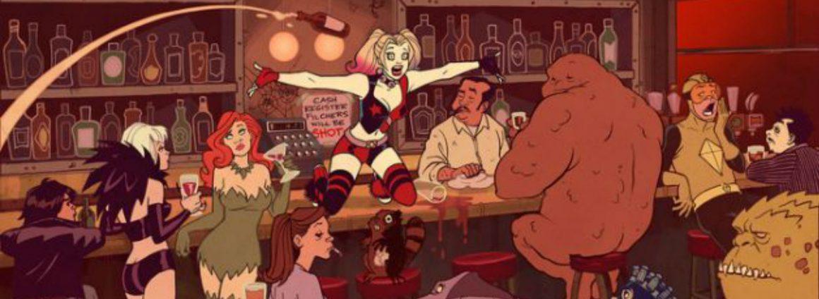 Harley-Quinn-Gang-at-a-Bar-Feature