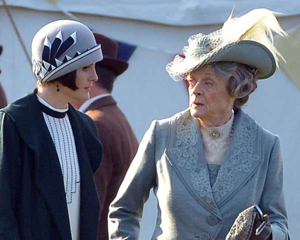 Downton Abbey Maggie Smith Michelle Dockery
