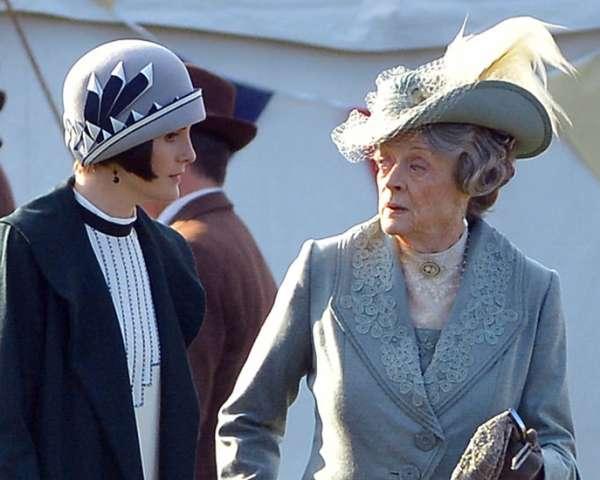 Downton Abbey Maggie Smith Michelle Dockery