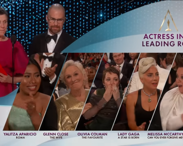 Glenn Close losing the Oscar reaction shot