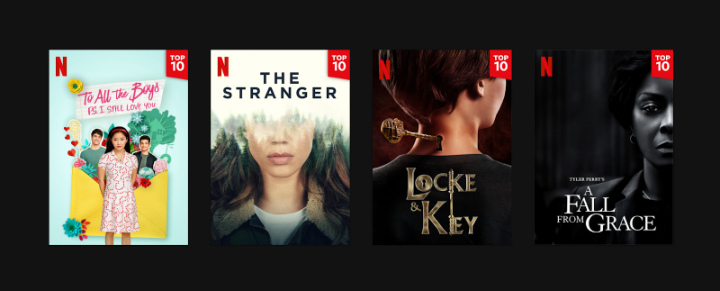 Netflix Badges Row Originals