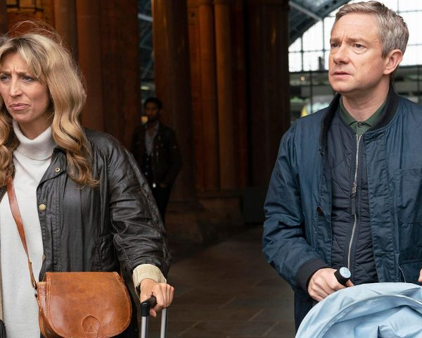 Daisy Haggard and Martin Freeman in a scene from Breeders