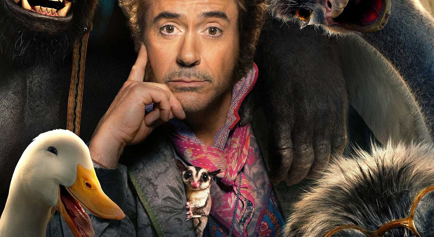 Robert Downey Jr. as Dr. Dolittle in the film's poster