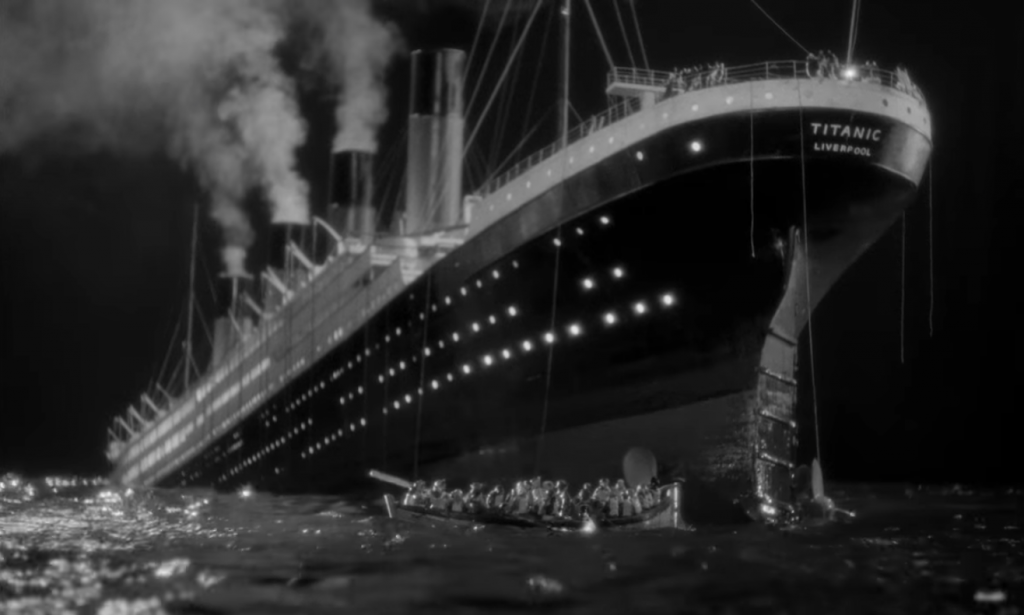 A scene from A Night to Remember