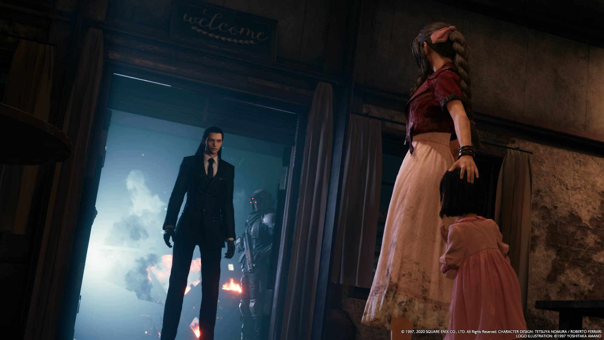 Aerith and Marlene meet Tseng, leader of the Turks. (Square-Enix)