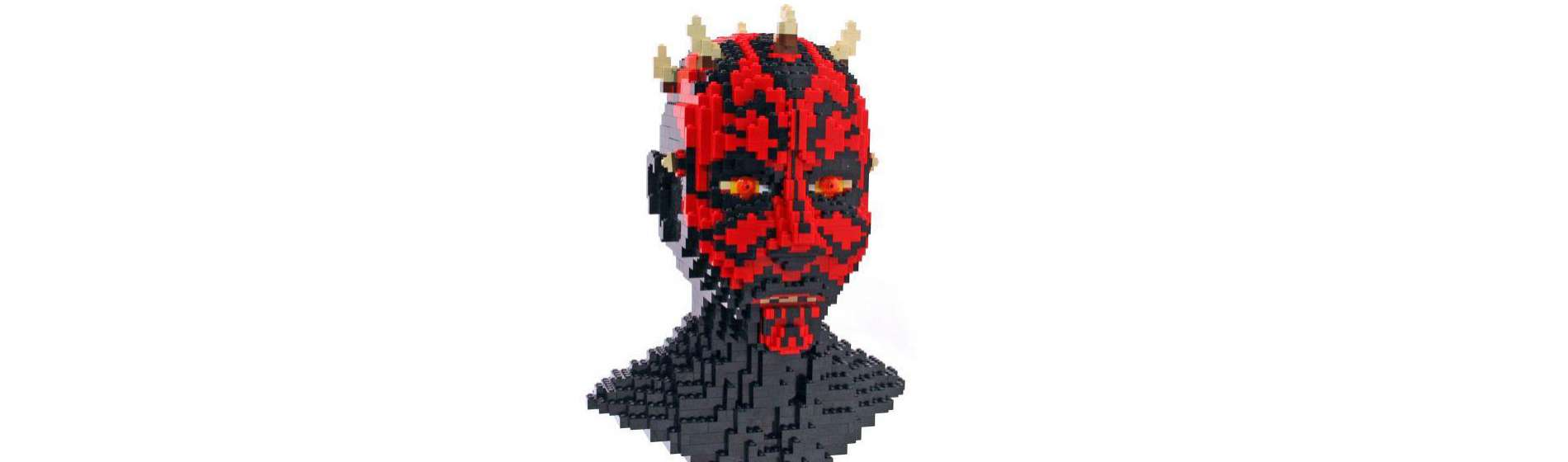 Star Wars Lego Darth Maul Bust