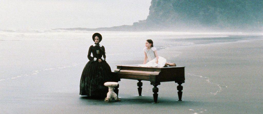 The Piano Beach scene