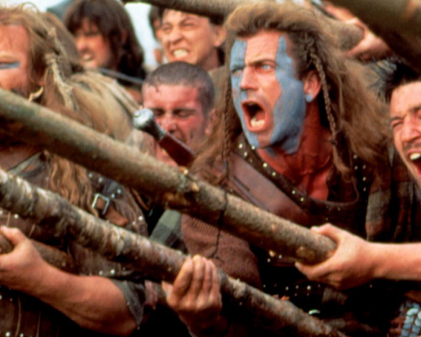 A still from 1995's Braveheart
