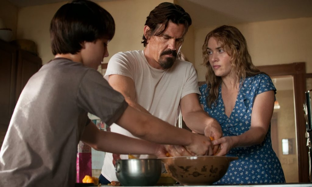 Kate Winslet Labor Day Peach Scene