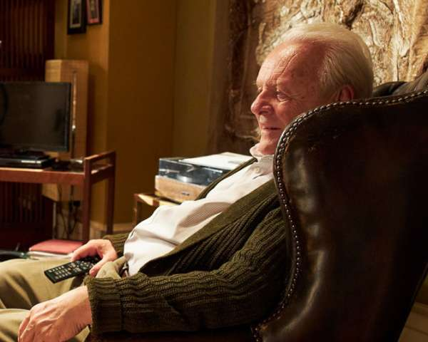 TIFF 2020 The Father image shows Olivia Colman and Anthony Hopkins seated opposite each other