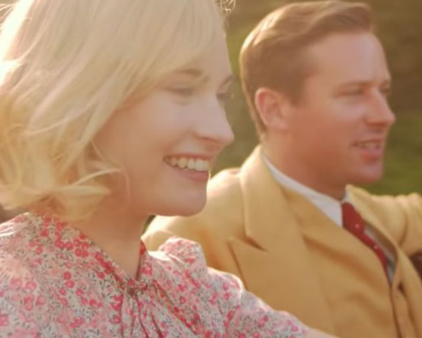 Lily James and Armie Hammer in Rebecca