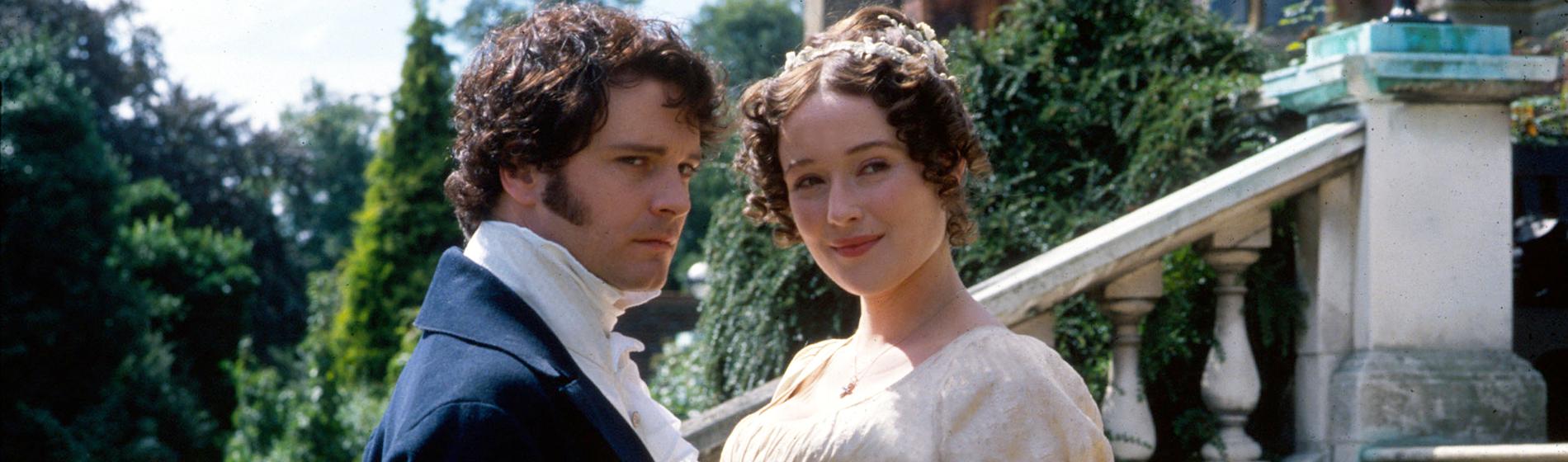 Colin Firth (Mr. Darcy) and Jennifer Ehle (Elizabeth Bennet) in Pride and Prejudice