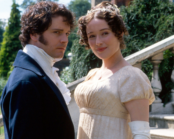 Colin Firth (Mr. Darcy) and Jennifer Ehle (Elizabeth Bennet) in Pride and Prejudice