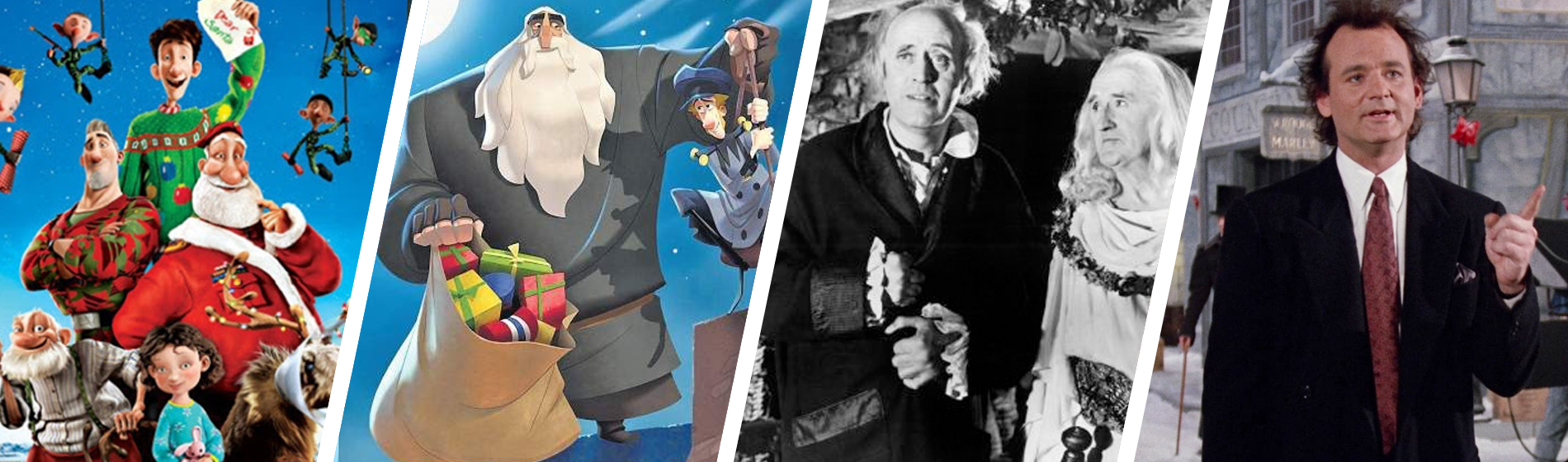 Arthur Christmas, Klaus, A Christmas Carol, Scrooged