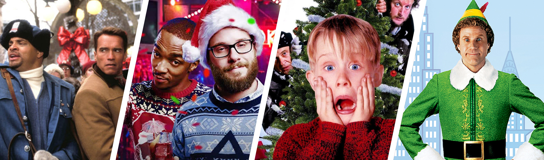 JIngle All the Way, Night Before, Home Alone, and Elf