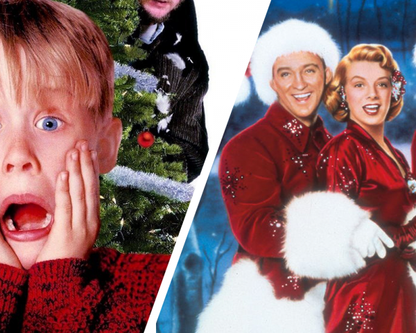 Home Alone, White Christmas posters side by side
