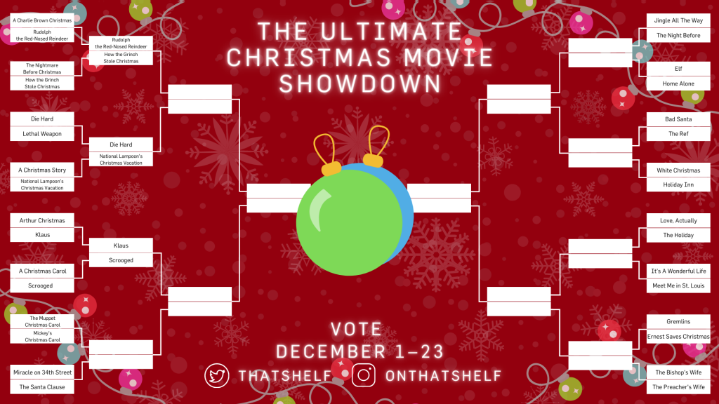 Ultimate Christmas Movie Showdown brackets