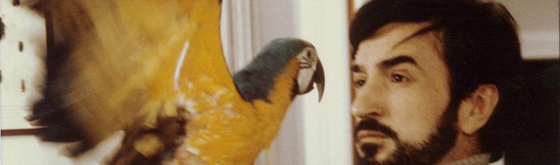 Jean-Claude Carrière with parrot