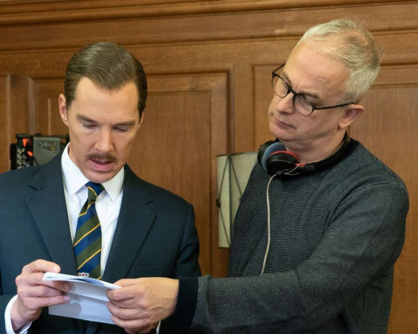 Dominic Cooke and Benedict Cumberbatch on the set of The Courier