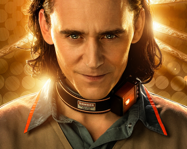 Tom Hiddleston in the Loki Disney Plus poster