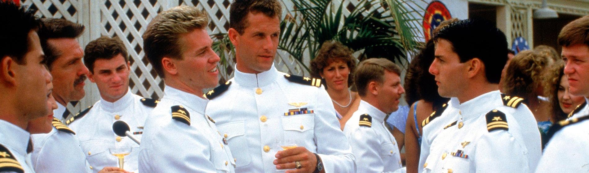 Top Gun Val Kilmer Rick Rossovich Tom Cruise