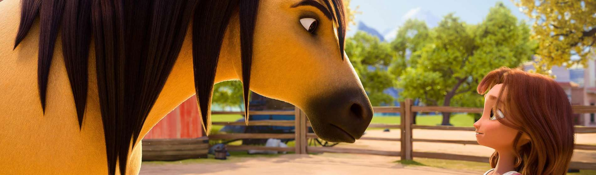 Spirit Untamed animated girl with horse