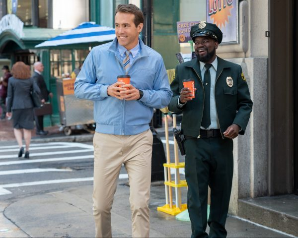 Ryan Reynolds as Guy and Lil Rel Howery as Buddy in Free Guy