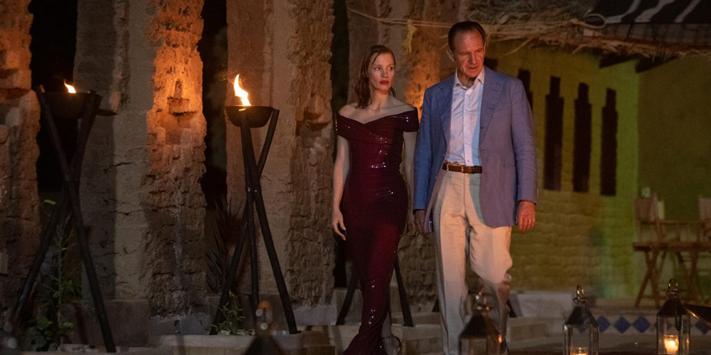 Jessica Chastain and Ralph Fiennes in The Forgiven